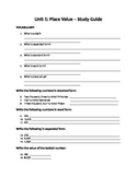 My Math- Chapter 1 - Place Value Study Guide
