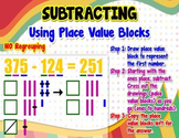 Place Value - Subtracting = Poster/Anchor Chart with Worksheets