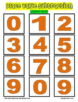 Place Value Subtraction Game