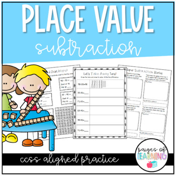 Place Value Subtraction Practice Pack