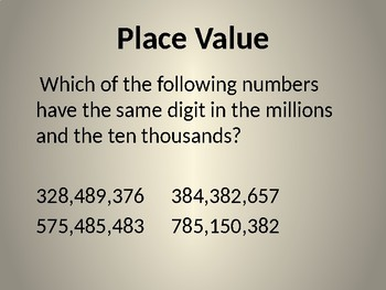 Math Place Value - TEI Technology Enhanced Items for Enrichment - Higher Level