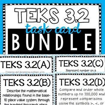 Place Value TEKS 3.2 BUNDLE!! 3.2A 3.2B 3.2C 3.2D