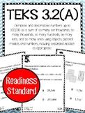 Place Value TEKS 3.2A Task Cards