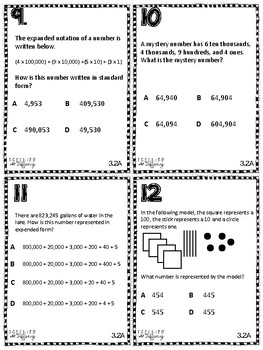 Place Value TEKS 3.2A Task Cards