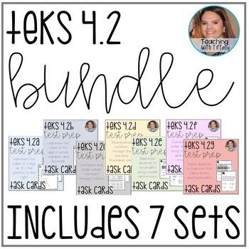 Place Value TEKS 4.2A 4.2B 4.2C 4.2D 4.2E 4.2F 4.2G Task Card BUNDLE!!