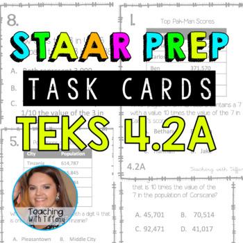 Place Value TEKS 4.2A Task Cards