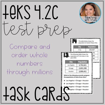 Place Value TEKS 4.2C Task Cards