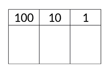 Place Value Table A4