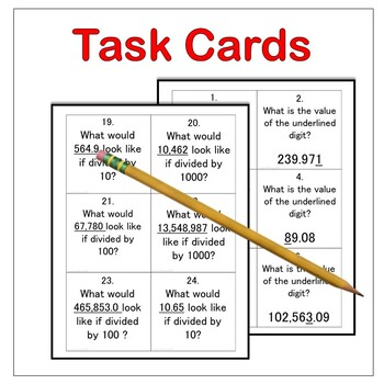 Place Value Task Card Activities