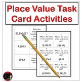 Place Value Task Card Activities: Grades 4-5