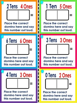 Place Value Task Card Games Using Dominoes