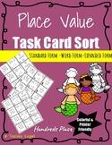3-digit Place Value Task Card Sort