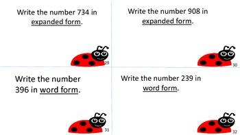 Place Value Task Cards 1-999