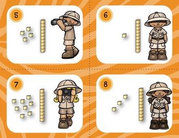 Place Value Task Cards 10 thru 59 (100 Task Cards)