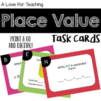 Place Value Task Cards