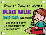 Place Value Task Cards Visual Supports