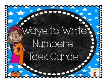 Ways to Write Numbers Task Cards