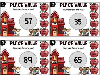 Place Value Task Cards 1st Grade