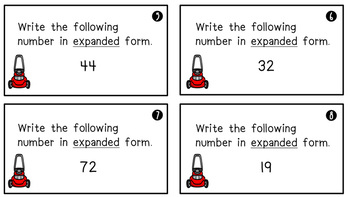 Place Value Task Cards - 1st Grade Edition