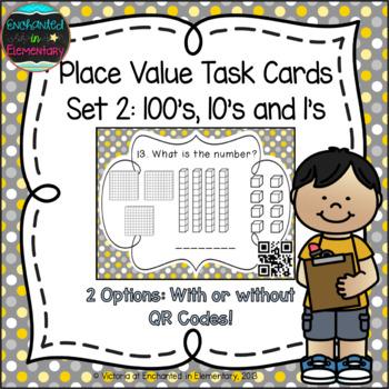 Place Value Task Cards 2: Hundreds Tens & Ones: 2nd Gr CC: