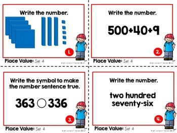 Place Value Task Cards: 2-digit & 3-digit numbers