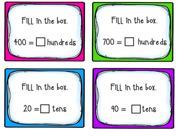 Place Value Task Cards - Perfect for Math Workshop / Math Centers