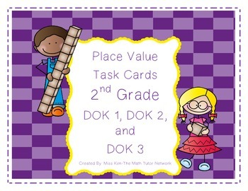 Place Value Task Cards-2nd Grade