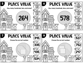 Place Value Task Cards 2nd Grade