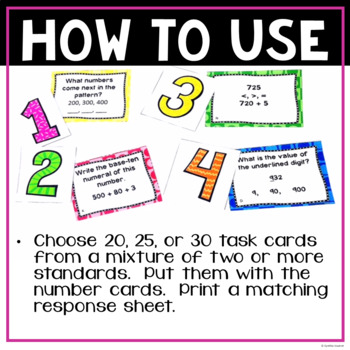 Place Value Task Cards for 2nd Grade
