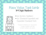 Place Value Task Cards (3-4 Digits)