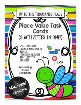 Place Value Task Cards (3 Activities)