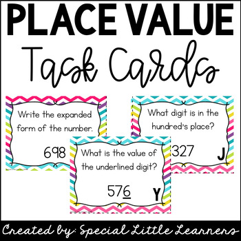 Place Value Task Cards {3-Digit Numbers}