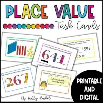 Place Value Task Cards 3 digit