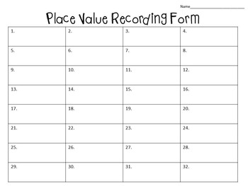 Place Value Task Cards:  32 Color and B&W Cards (to hundred thousands place)