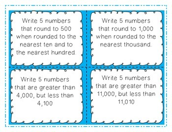 Place Value Task Cards-3rd Grade