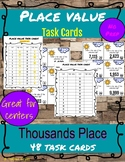 Place Value Task Cards: 4-digit/Thousands Place