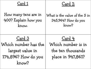 Place Value Task Cards 4.NBT.1