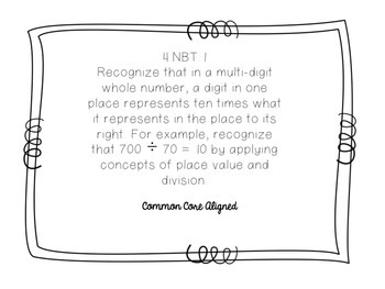 Place Value Task Cards 4.NBT.A.1