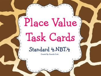Place Value Task Cards 4.NBT.4