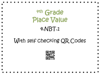 Place Value Task Cards 4th Grade Math Common Core 4.NBT.1