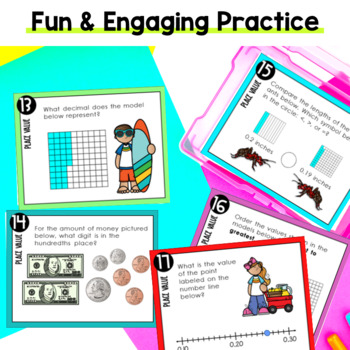 Place Value Task Cards 4th Grade TEKS by Marvel Math