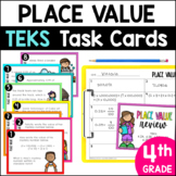 Place Value Task Cards 4th Grade TEKS STAAR PREP by Marvel Math