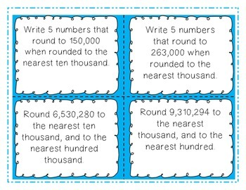 Place Value Task Cards-4th and 5th Grade