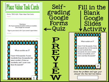 Place Value Task Cards: 4th Grade Math TEKS 4.2B: CCSS 4.NBT.A.2