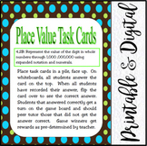 Place Value Task Cards: 4th Grade Math TEKS 4.2B: CCSS 4.NBT.A.2