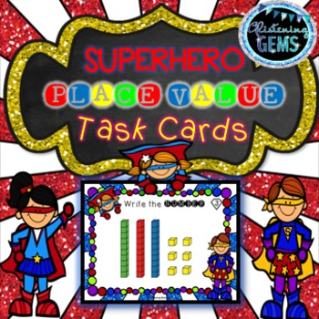 First Grade Place Value Task Cards