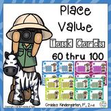 Place Value Task Cards 60 thru 100 (80 task cards)