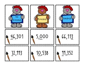 Place Value Task Cards + Activity