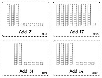 Addition to 100 Task Cards (Place Value Strategy) No Regrouping