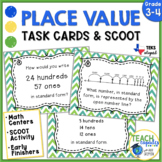 Place Value Task Cards - TEKs 3.2A & 3.2B